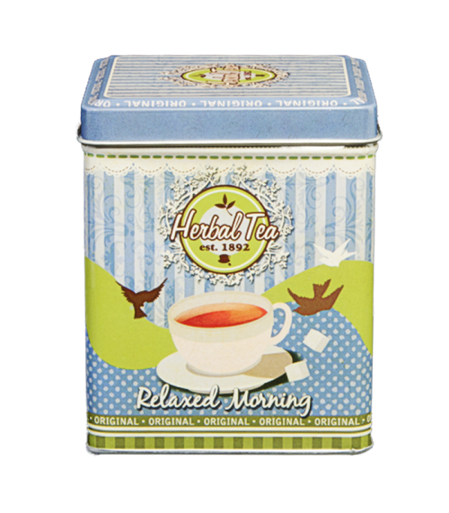 Theeblik Vierkant Herbal Tea