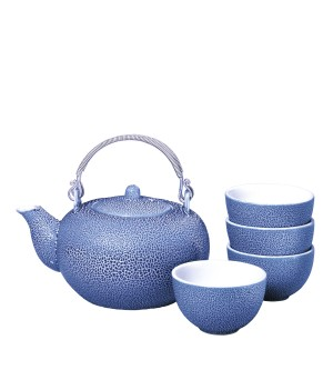 Keramische theeset Ceremony (Blauw)