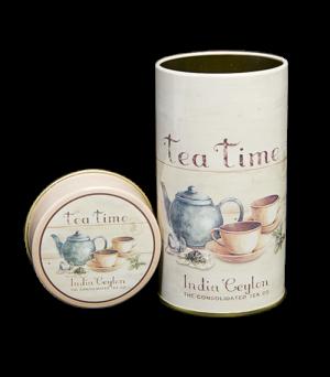 Rond blik Tea Time
