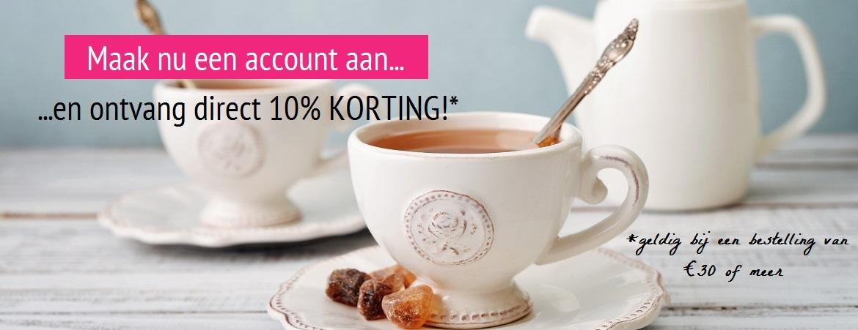 10% korting bij aanmaken account